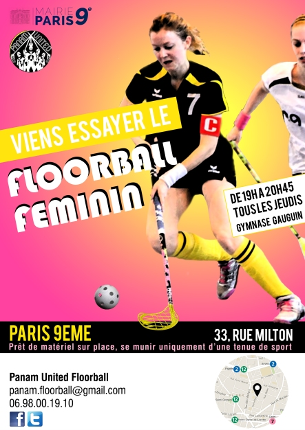 Affiche recrutement Panam United Floorball