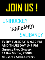 Unihockey innebandy salibandy paris